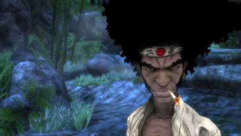 Say what you like about the game, but Afro Samurai has some nifty cell-shading. Rather than flat fills for shadows, the engine fills shadowed areas with western-style cross-hatching. Cool, huh?