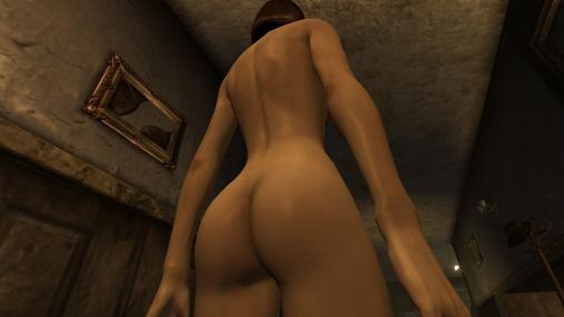 Fallout: New Vegas с nude-патчем, обнаженная девушка (вид сзади). Патч, де