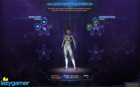 KerriganUpgrade01-you can select a different battle focus for kerrigan before each mission copy