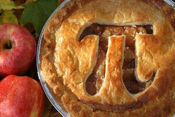 It's a Pi Pie...which is meta. And Pi's an irrational number...wait! Why am I explaining myself to you?