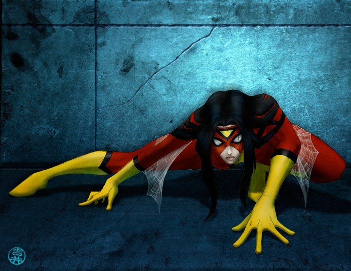 You wish that it was this Spider-woman...