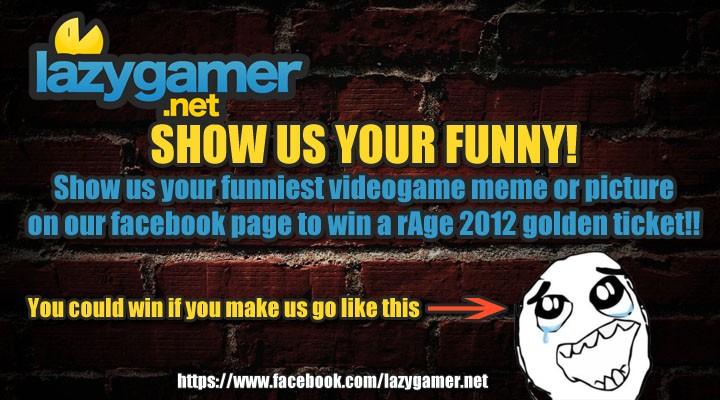 Lazygamer - NintendoSA rAge 2012 ticket comp