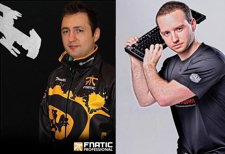 Silvui 'NightEnD' Lazar (Fnatic) and Robert 'PandaTank' Botha (CoolerMaster)