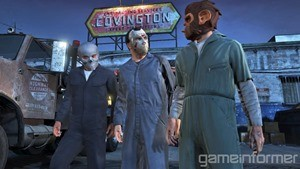 Before major heists, players must conduct several side missions to prep. For this mission in particular, you must pick up boilers suits, choose masks, collect the vehicles necessary for the job, and find a spot to hide the getaway car