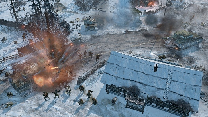 Company of Heroes 2 Snow Battle