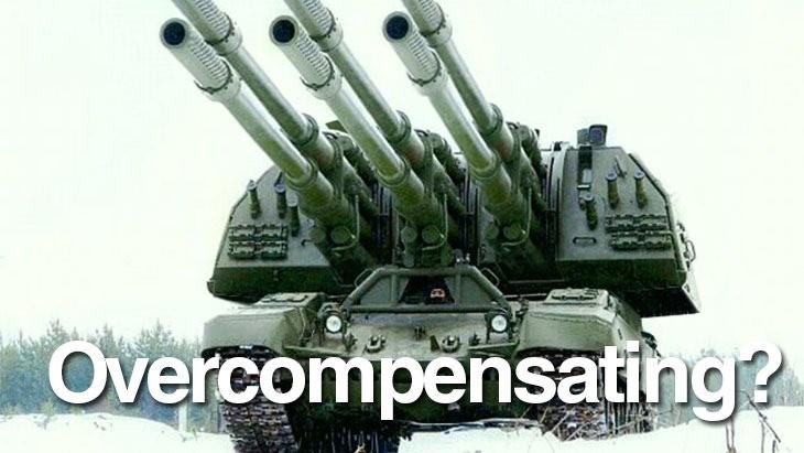 overcompensating