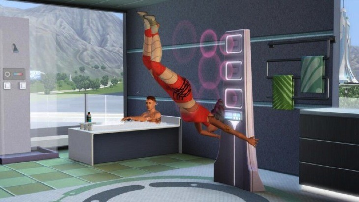 Sims future shower