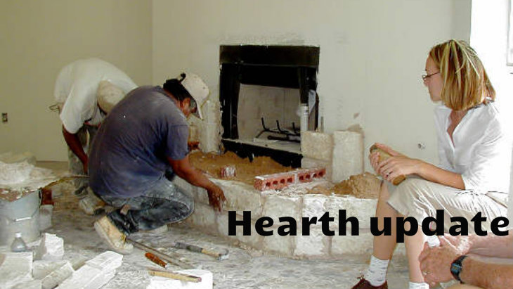 Building fireplace hearth