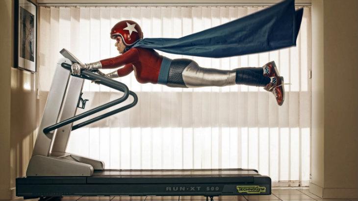 Flying treadmill