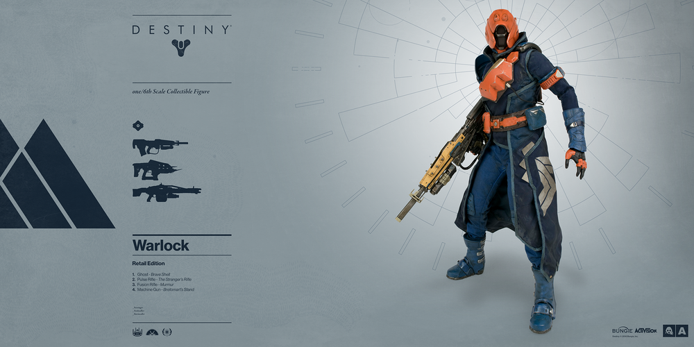 These destiny hunter and warlock figures are magnificent