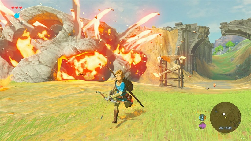 Breath of the Wild bow and arrow gameplay 2