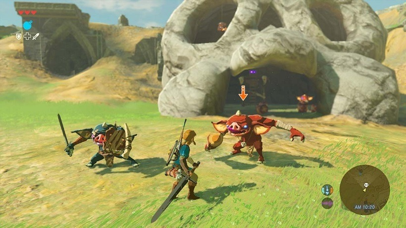 The legend of zelda breath of the wild weapons gameplay video