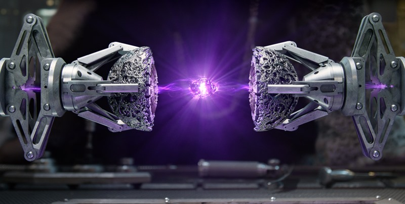 """Marvel's Guardians Of The Galaxy The purple """"Power"""" Infinity Stone revealed in the Collector's Lab Ph: Film Frame ©Marvel 2014"""