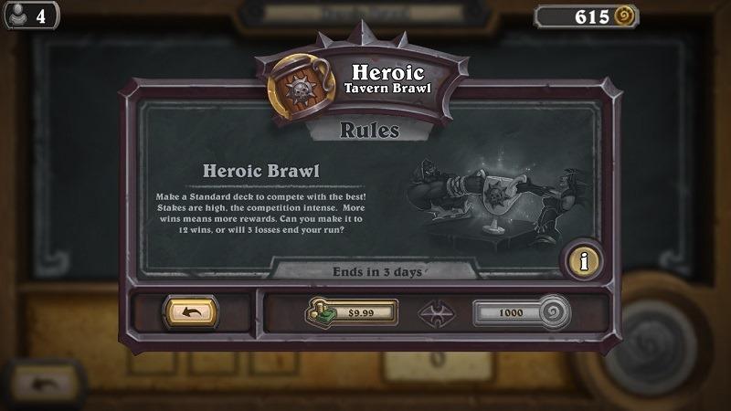 Hearthstone Heroic Tavern Brawl header