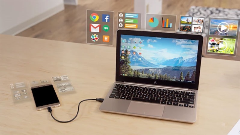 The Superbook is a shell that turns your Android smartphone into a laptop