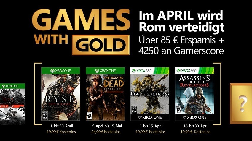 Games with Gold leaked for April