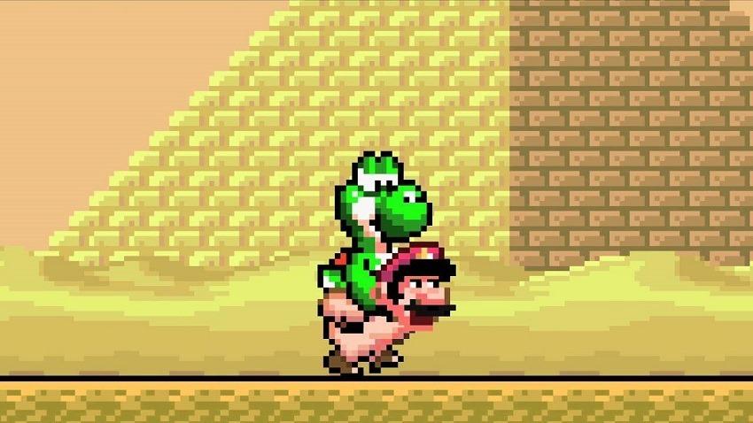 Mario was actually beating Yoshi 2