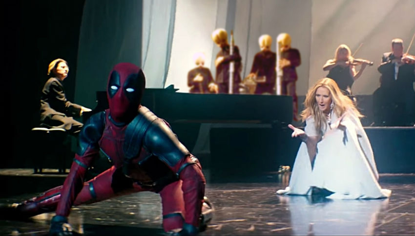 Deadpool stars in Celine Dion's wonderful new video for 'Ashes'